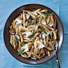 Penne with Sage and Mushrooms