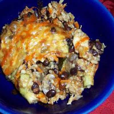 Brown Rice and Black Bean Casserole