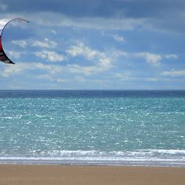 Kite Surfer at Bigbury by Alex Graeme - Sports & Fitness Surfing ( surfing, kite surfer, bigbury )