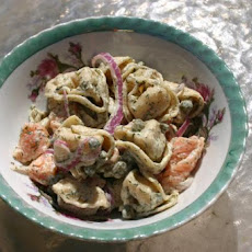 Smoked Salmon and Tortellini Salad