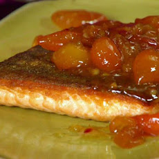 Seared Arctic Char with Kumquat Compote