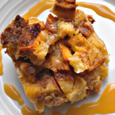 Bread Pudding with Spiced Rum Sauce