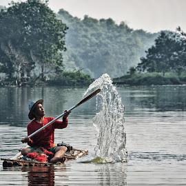 fisherman... by Fritz Basuki - People Portraits of Men