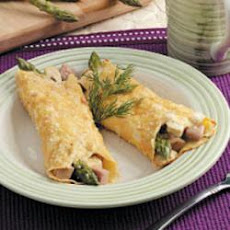 Asparagus Chicken Crepes