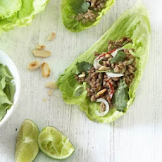 Spicy Mince & Lettuce Cups