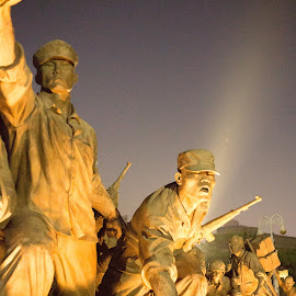 Korean War Memorial at night by Brent Hendricks - Buildings & Architecture Statues & Monuments