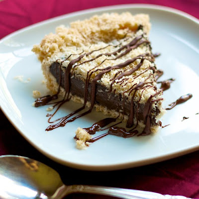 Frozen Chocolate Samoas Pie