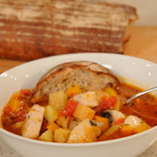 Minestrone with Fish and Root Vegetables