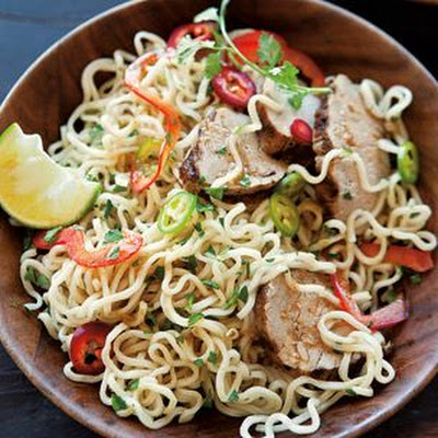 Noodle Salad with Pork and Asian Lime Vinaigrette
