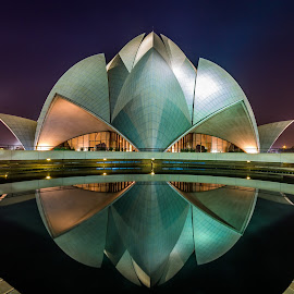 Lotus Temple by Akhil Kabu - Buildings & Architecture Places of Worship ( lotus temple, blue hour, new delhi, night, bahai,  )