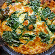 Crustless Spinach Quiche (Low Fat)