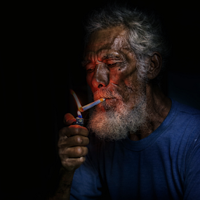 night fire by Daril Sugito - People Portraits of Men