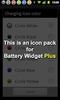 Screenshot of Battery Widget Icon Pack 1