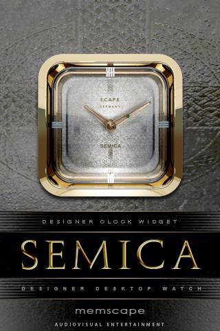 SEMICA Designer Clock Widget