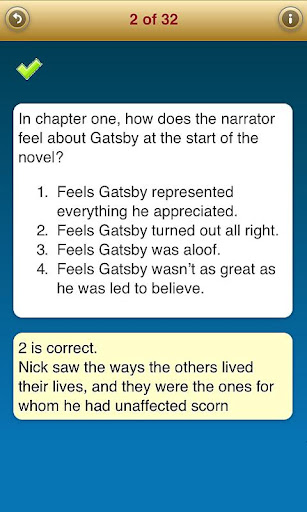 Study Questions: Great Gatsby