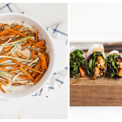 Soy-Glazed Roasted Carrot Spring Rolls