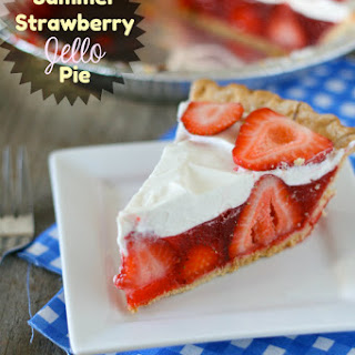 Summer Strawberry Jello Pie