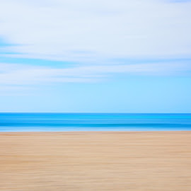 by Angel McNall - Landscapes Beaches ( abstract, water, sand, sky, blue )