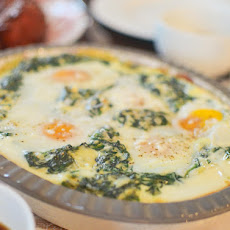 Creamed Spinach with Baked Eggs