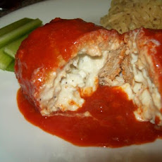 Buffalo Bleu Stuffed Chicken