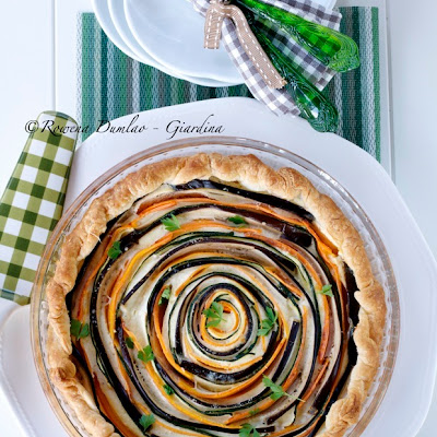 Spiral Vegetable Ricotta Pie