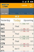 Screenshot of Sports Lines - Scores & Odds