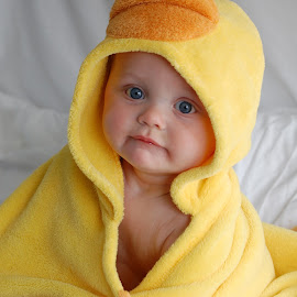 Little Duck by Jenny Shetters - Babies & Children Babies ( baby towel, yellow duck, bath time )