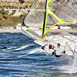 49er sailing team AUT by Ivan Bulaja - Sports & Fitness Watersports ( 49er, sailing, austrian, santander, sports, action, sport, nickomania, team, atractive )