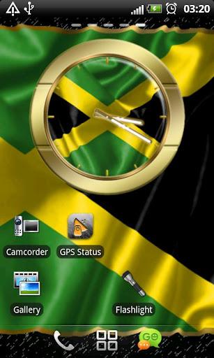 Jamaica flag clocks