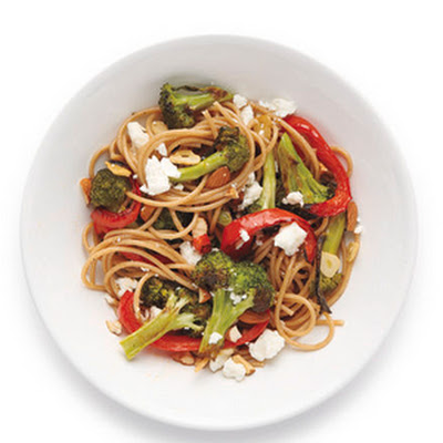 Spaghetti With Feta and Broccoli