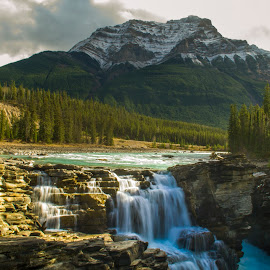 Rising Mountain, Falling River by Hayden Atkinson - Landscapes Mountains & Hills ( soothing nature, mountains, finding a way, serenity, waterfall, renewal, green, trees, forests, nature, natural, scenic, relaxing, meditation, the mood factory, mood, emotions, jade, revive, inspirational, earthly )