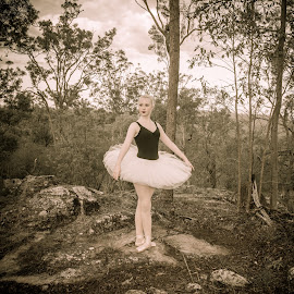 Ballerina in the Bush by Esther Visser - People Musicians & Entertainers