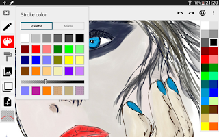 Screenshot of ScribMaster draw and paint