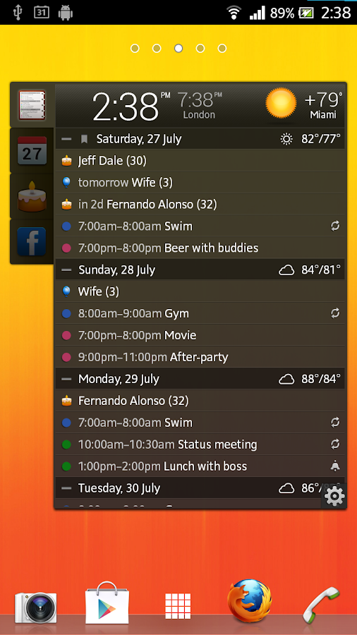 All-in-One Agenda widget Screenshot 0