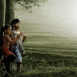 the beauty of the morning in the countryside by Abus  Salim - Digital Art People