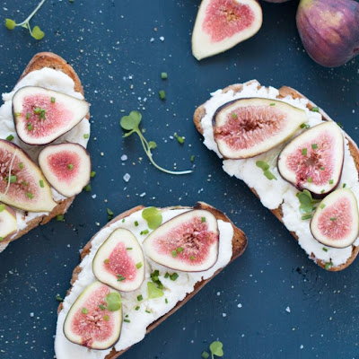 Fresh Ricotta, Fig + Honey Tartines