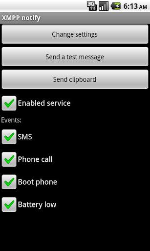 XMPP notify