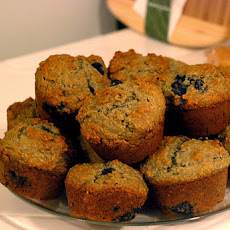Whole Wheat Blueberry Bran Muffins