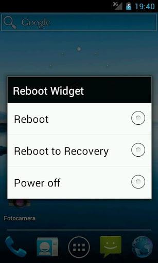 Reboot Widget