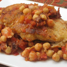 Spanish Chicken With Chorizo and Chickpeas