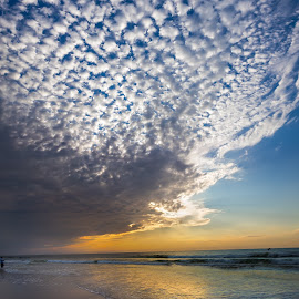 The Long Beach fisherman by Sergio Smiriglio - Landscapes Beaches ( clouds, long beach island, morning on the beach, sergio smiriglio, atlantic, beach haven, sony a7, new jersey )