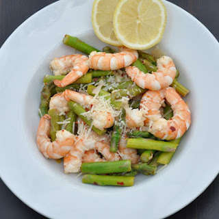 Sauteed Asparagus and Shrimp with Lemon