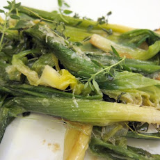 French in a Flash: Quick-Braised Young Leeks with Parmesan and Thyme
