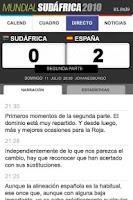 Screenshot of Mundial Sudáfrica en El País