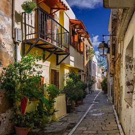 Down the streets of Rethimno by Krasimir Lazarov - City,  Street & Park  Street Scenes ( rethimno, street, greece, tourism, island of crete, town, crete, travel locations, street photography )
