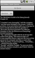 Screenshot of Hitchhikers Guide Quotes