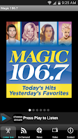 Screenshot of Magic 106.7 Music