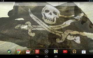 Screenshot of Pirate Flag Live Wallpaper Try