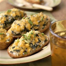 Twice-Baked Spinach Potatoes