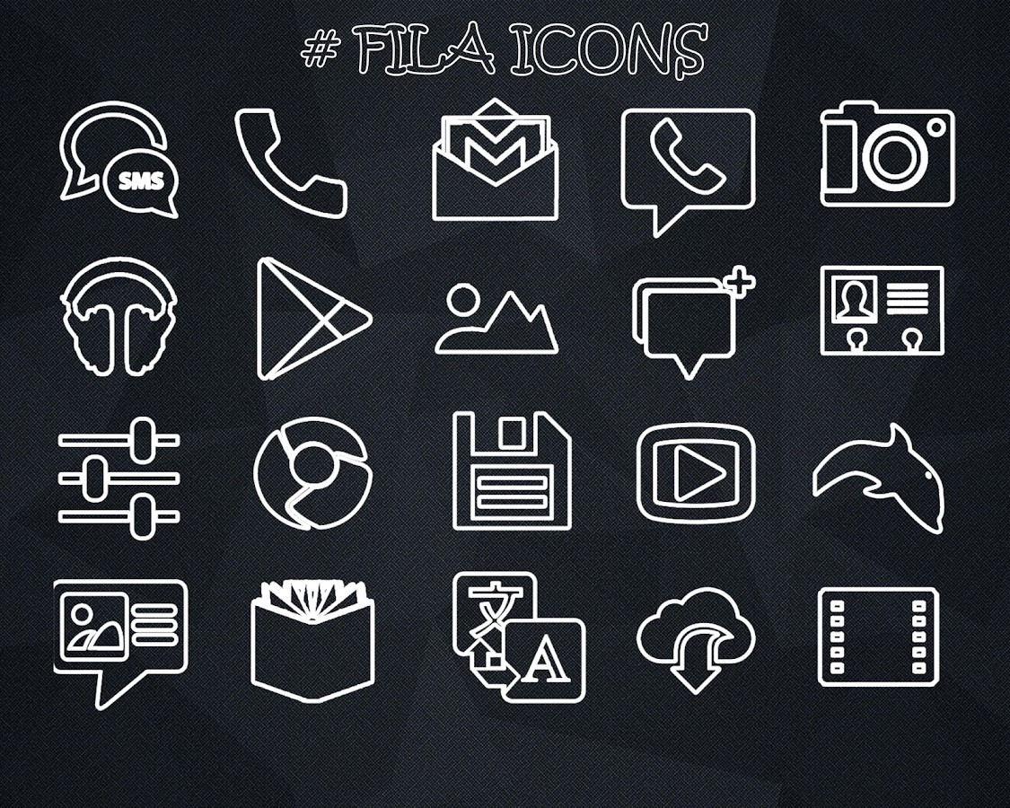 FILA ICONS APEX/NOVA/ADW/GO Screenshot 0